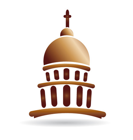 social history: Church temple capitol building vector icon