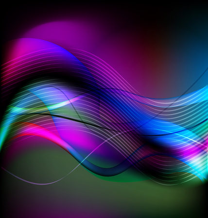 Abstract swirly colorful background template Vector