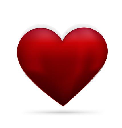 heart 3d: Love heart 3d image -Valentine heart Illustration
