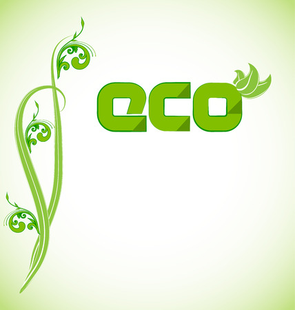 Ecology concept vector web background template with blank space Illustration
