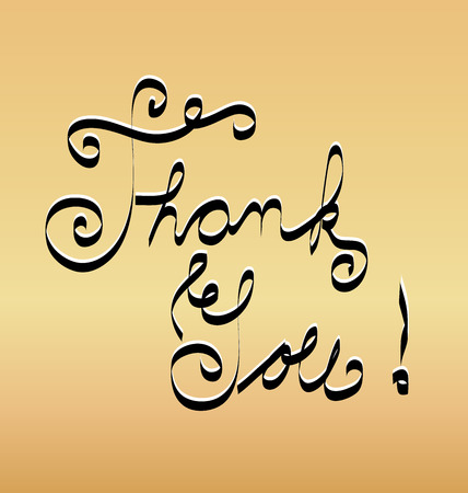 Thank you word vector gold background Vector