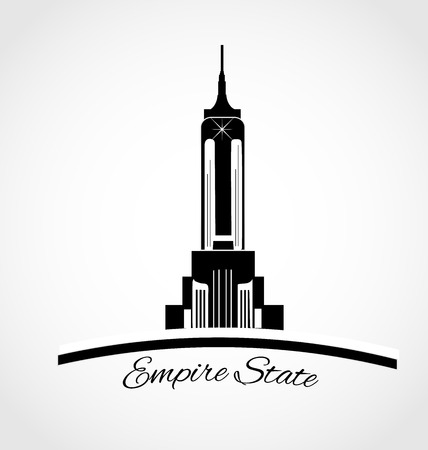 Empire State building vector icon