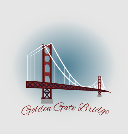francisco: San Francisco Golden Gate Bridge emblem icon