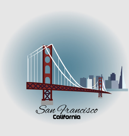 panoramic beach: San Francisco Golden Gate Bridge with skyline buildings icon