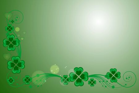 St patricks day background postcard Vector