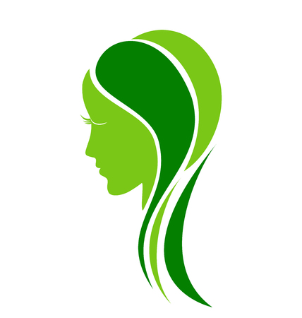 Natural leafs and fashion care design template symbol Vector