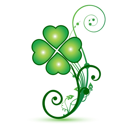 Clover shamrocks flower st patricks symbol icon vector design Vector