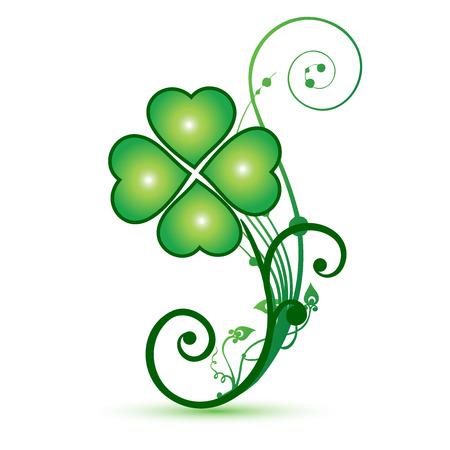 renders: Clover shamrocks flower st patricks symbol icon vector design Illustration