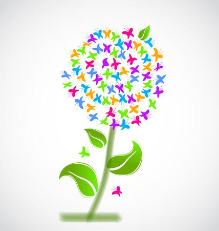 vivid colors: Spring flower of butterflies vivid colors background