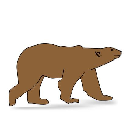 bear silhouette: Vector bear silhouette icona Vettoriali