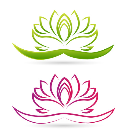 massage symbol: Lotus flower vector