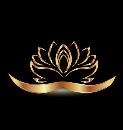 Gold lotus flower