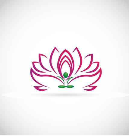 indian yoga: Fiore di loto simbolo web icona immagine vettoriale Uomo di yoga