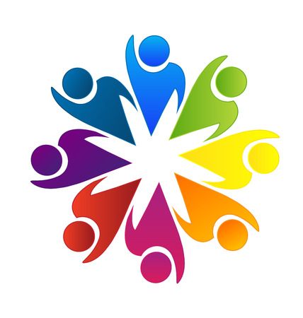 Teamwork optimistisch Arbeiter erfolgreich logo Standard-Bild - 38963364