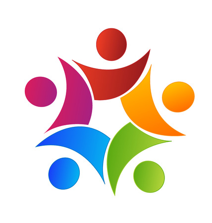 Teamwork union swooshes web identity card