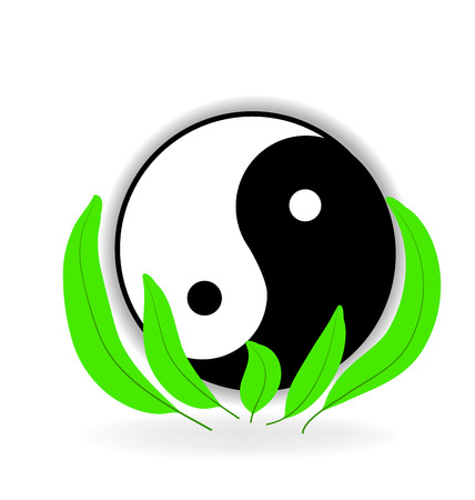 jing: Yin Yang symbol of harmony and life Illustration