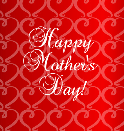 day: Happy mothers day card template Illustration