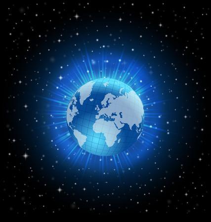World globe vector design concept