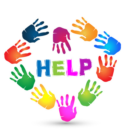 voluntary: Hands help icon. Voluntary symbol background