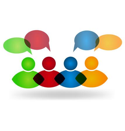 Business social media networking speech web logo design