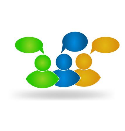 Business social media friends speech commentary web logo design Vector