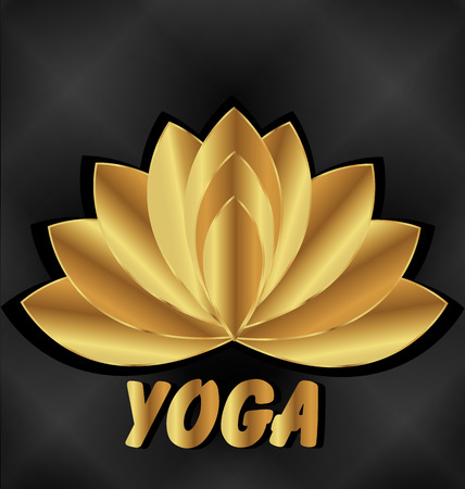 Yoga lotus meditation vector web identity card