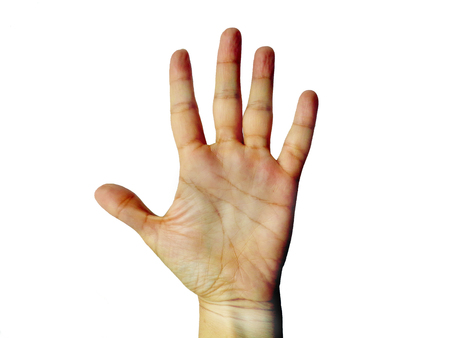 Woman hand picture photo