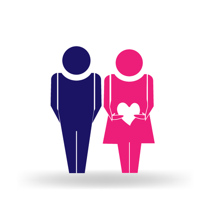 Love relationship couple people vector image Vector