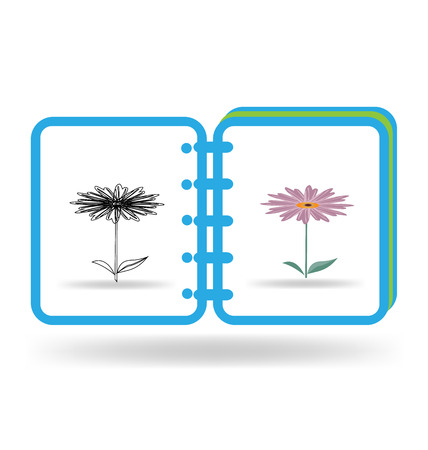 Notebook art graphic illustration logo template Vector