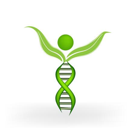 DNA Strands figure vector icon Stock Illustratie