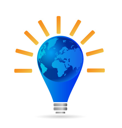 Light bulb idea concept. Marketing and business through the world