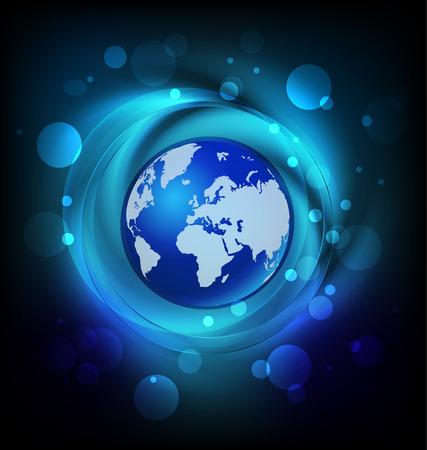 World business connection logo vector Vector