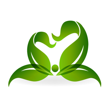 Green healthy life logo 일러스트
