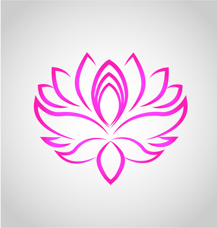 Kwiat lotosu wektor logo