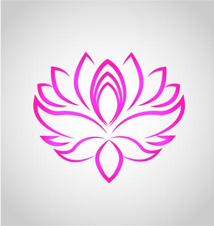 flores exoticas: Lotus logotipo de la flor del vector