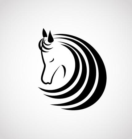 Horse elegant logo vector graphic design