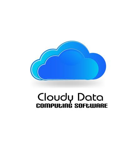 Cloud computing app vector logo icon Vector