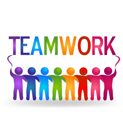 creative strength: Vector Teamwork partner people logo