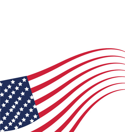 Flag USA Independence day background. Vector illustration template Vector