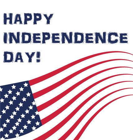 independencia: Bandera EE.UU. Día de la Independencia de fondo. Ilustración vectorial de plantilla