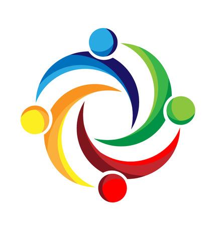 Teamwork business people design vector image  イラスト・ベクター素材