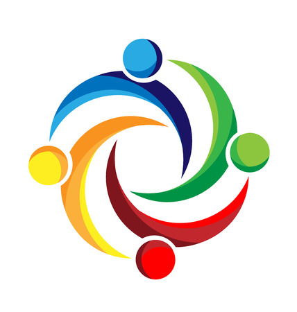 Teamwork business people design vector image Illustration