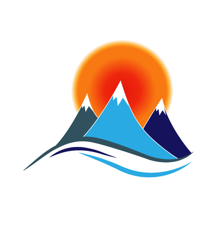 blue wave: Mountains logo