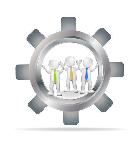 executives: 3D Business teamwork executives logo vector