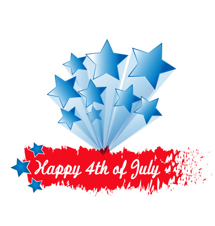 social history: Stars 4th of July greeting card