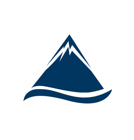 Mointain emblem portrait vector Ilustração