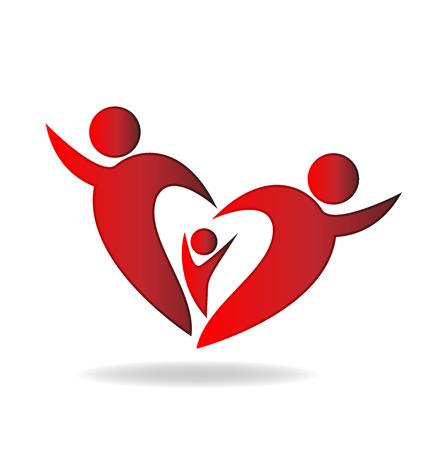 unify: Family heart vector