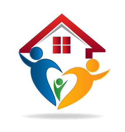 House en gelukkig gezin