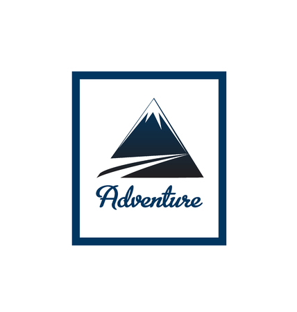 terrain: Adventure blue mointain portrait vector