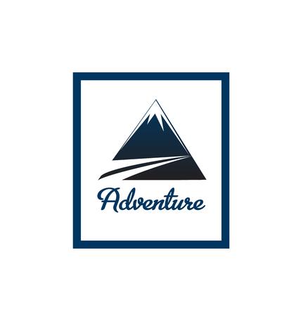 Adventure blue mointain portrait vector